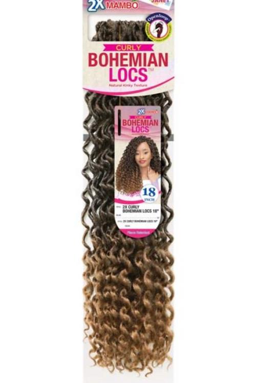 2X Mambo Curly Bohemian Locs 18in