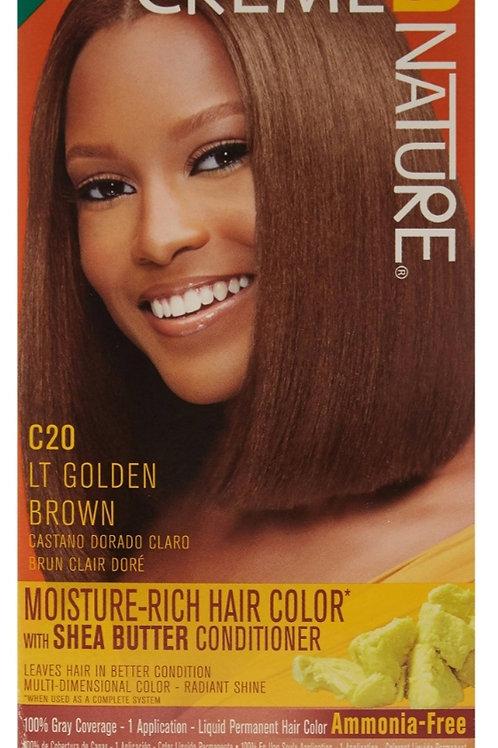 Creme of Nature Moisture-Rich Hair Color C20 LT Golden Brown