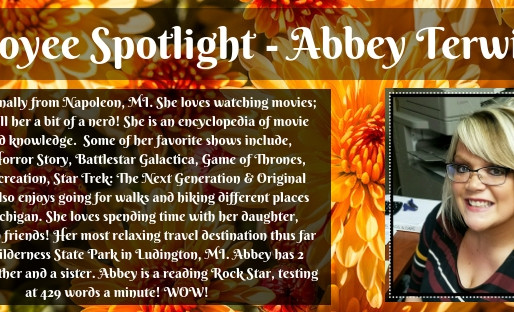 Employee Spotlight - Abbey Terwilliger!