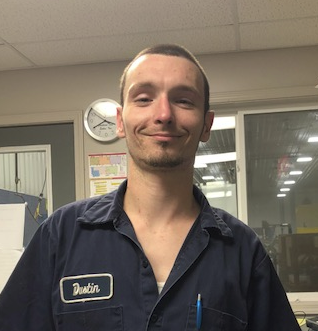 June Employee of the Month, Dustin Wright!