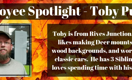 Employee Spotlight - Toby Pulver!