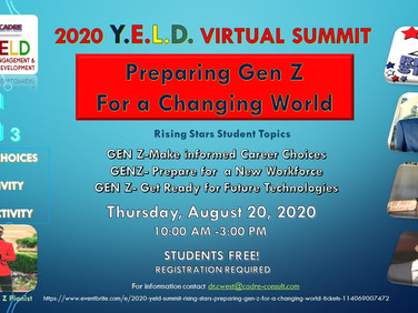2020 YELD SUMMIT Features Gen Z Rising Stars- Register Now!  Students Free