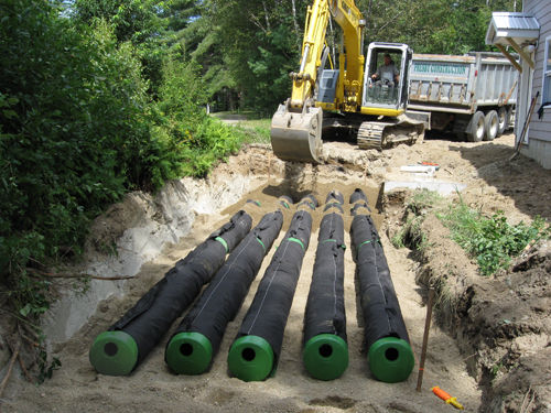 Presby septic installation