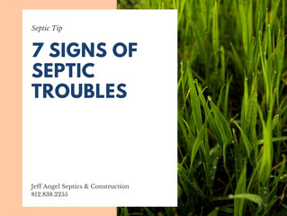 7 Signs of Septic Troubles