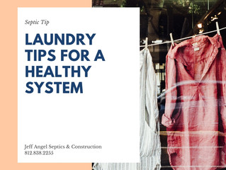 Laundry Tips for the Health of Your Septic System