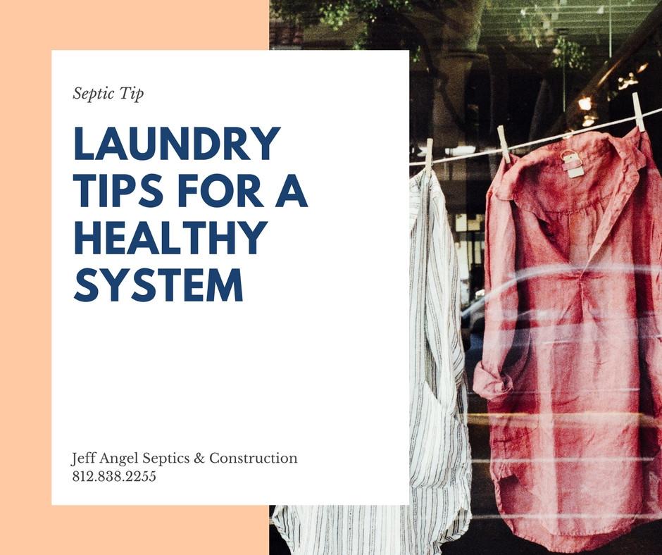 laundry tips for septics