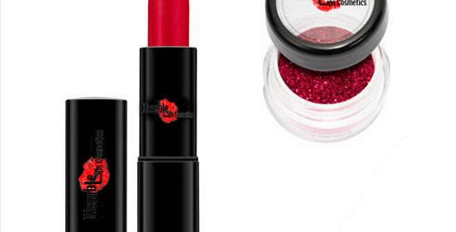 MAKO Girls Superstar Red Glitterbomb Lipstick