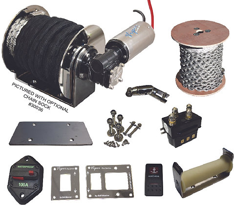 VIPER PRO II- S- series, 1000Watt DRUM WINCH, FULLY WATERPROOF