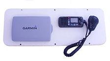 installation and wiring of Garmin chartplotter and wiring VHF marine radio