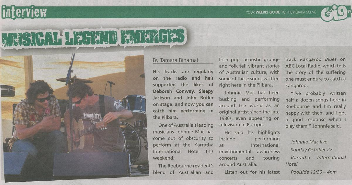 Johnnie Mac Echo Article