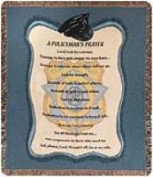 Manual Weavers Policeman's Prayer CottonTapestryThrow