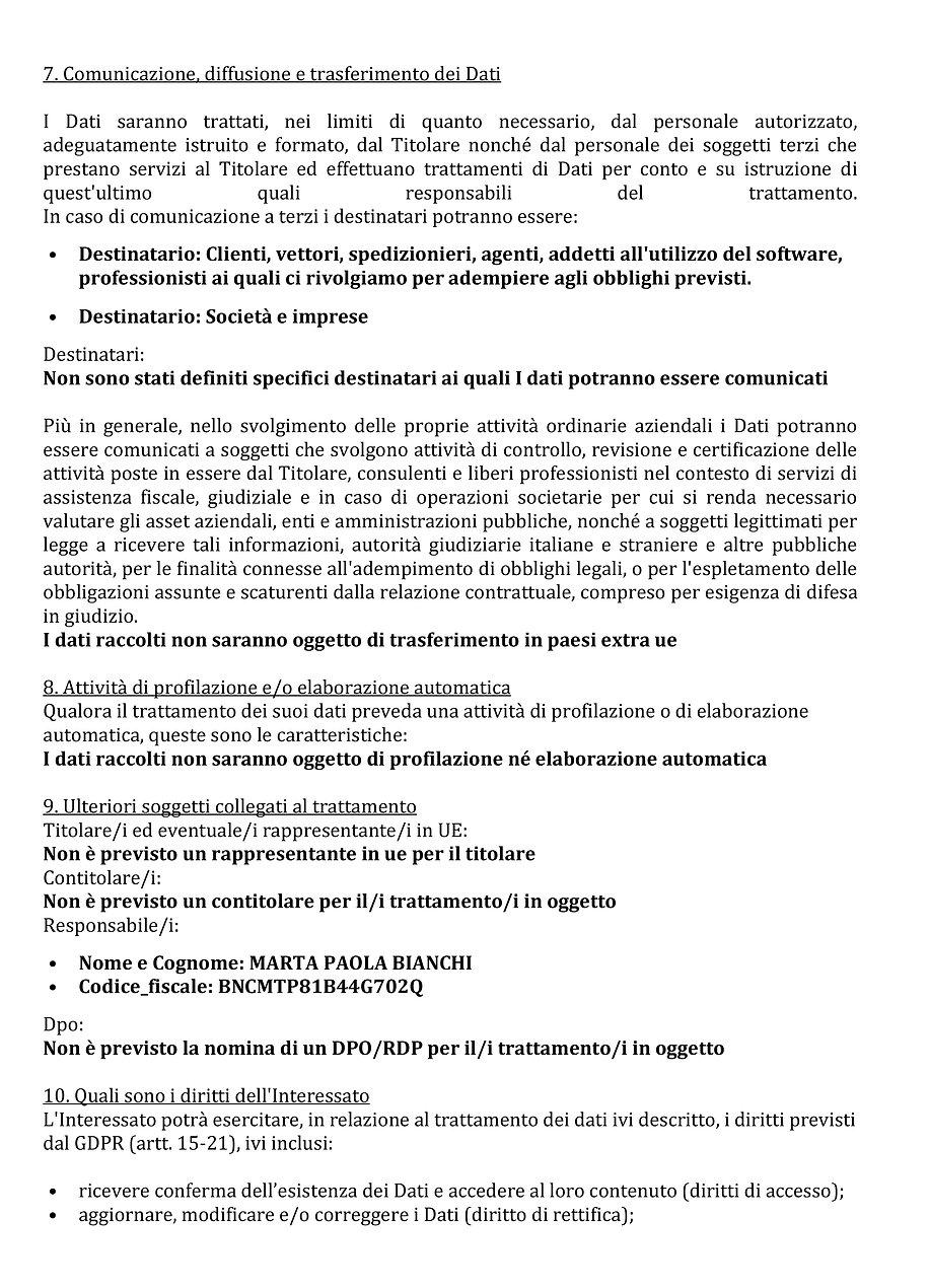 CONSENSO RELATIVO AL TRATTAMENTO DEI DAT