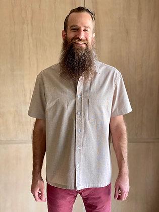 Tan Workcloth Short Sleeve Button-Up