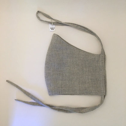 Grey Flannel Face Mask