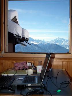 Stubentisch, Sicht zu Matterhorn