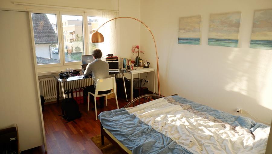 Room 3, 16 m2, evening sun