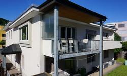 South facade with balcony