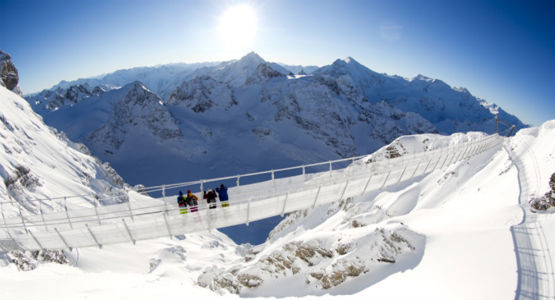 Cliff Walking auf dem Titlis