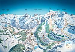 Karte Skigebiet Engelberg Titlis