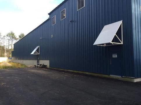 Metal blade awnings