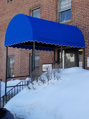 Rounded Marquee entrance canopy