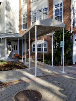 Rounded walkway canopy