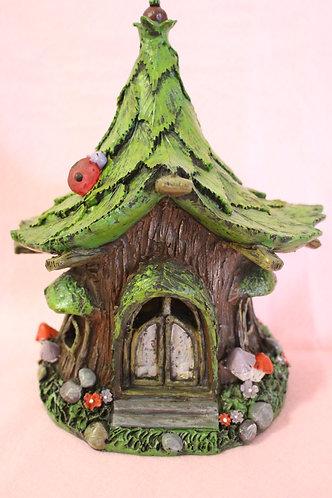 Solar Fairy Tree House with Ladybug