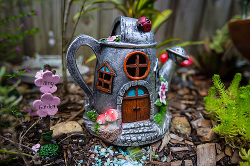 Solar Fairy House -Watering Can