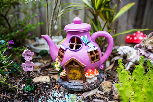 Solar Fairy House-Teapot