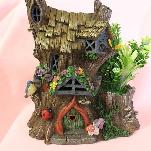 Solar Fairy House with Plant.