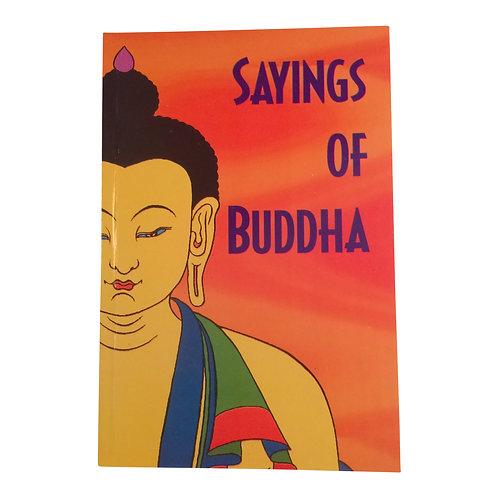 Livre/book: Sayings of Buddha