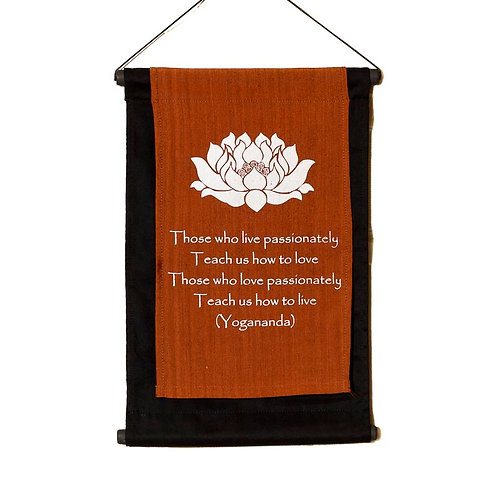 Yoga Wall-Hanging: Copper