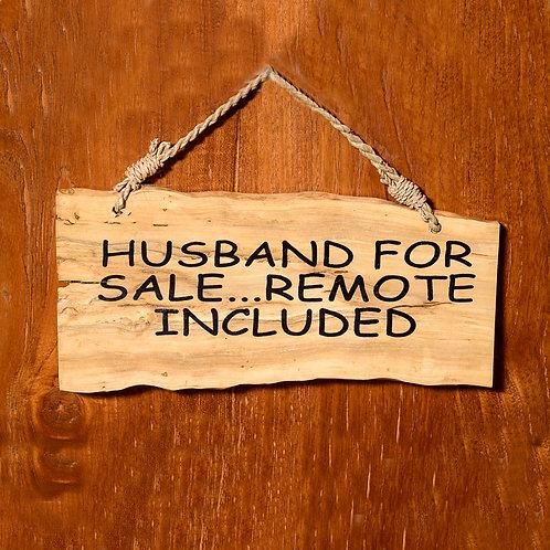 Husband wooden affirmation