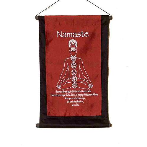 Namaste Wall-Hanging: Red