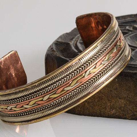 Brass & Copper nepali bracelet