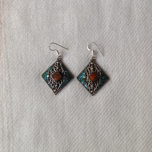 boucles d'oreilles tibétains/tibetan earrings 9