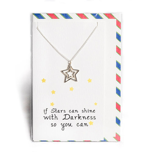 Stars Affirmation Necklace