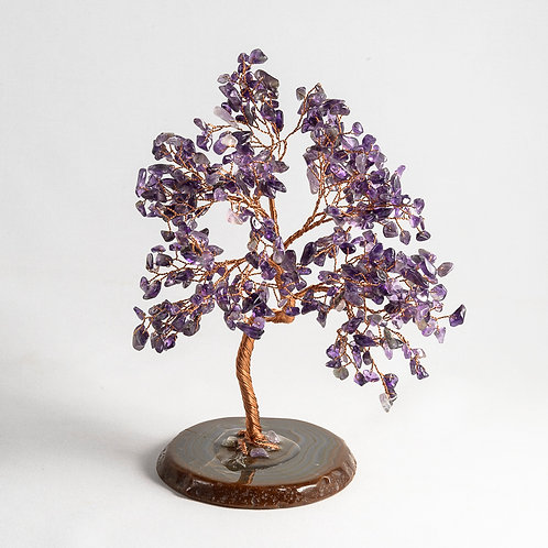 Amethyst stone tree