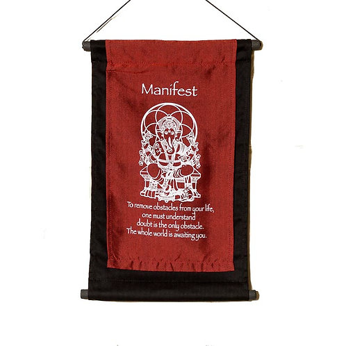 Manifest Wall-Hanging: Red
