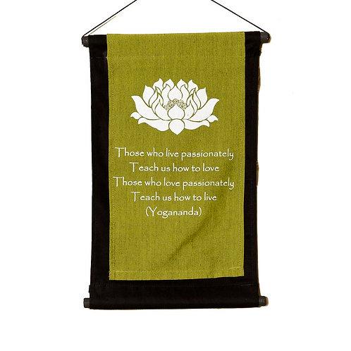 Yoga Wall-Hanging: Lime