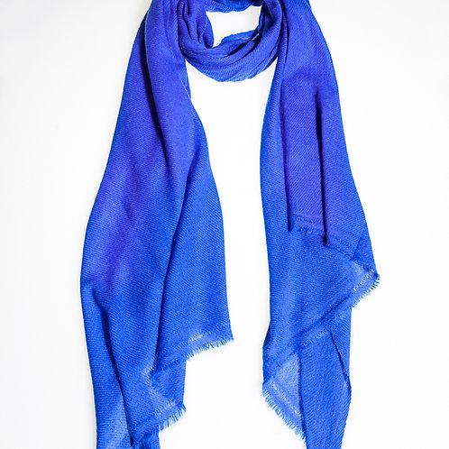 Pashmina scarf: Medium Blue