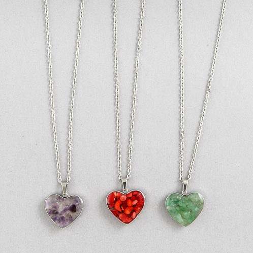 Crystal Heart Necklace B