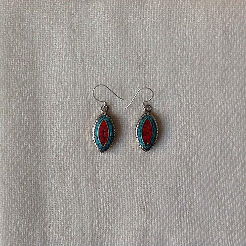 boucles d'oreilles tibétains/tibetan earrings 18