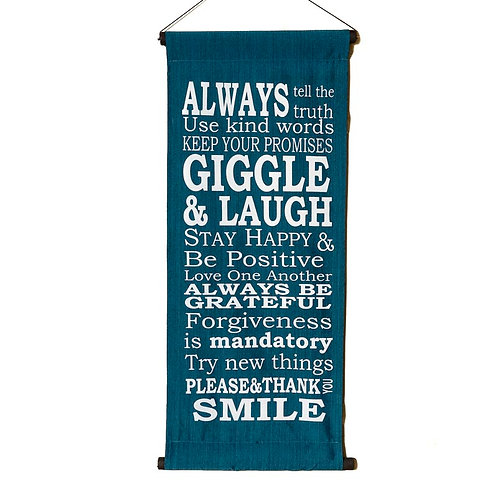Always Tell Wall-Hanging- Blue