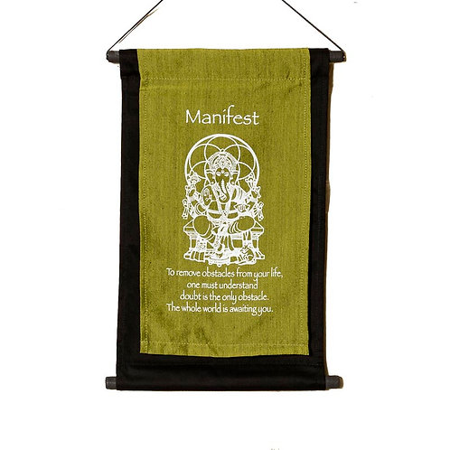 Manifest Wall-Hanging: Lime