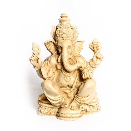 Resin Ganapati 15 cm/ White