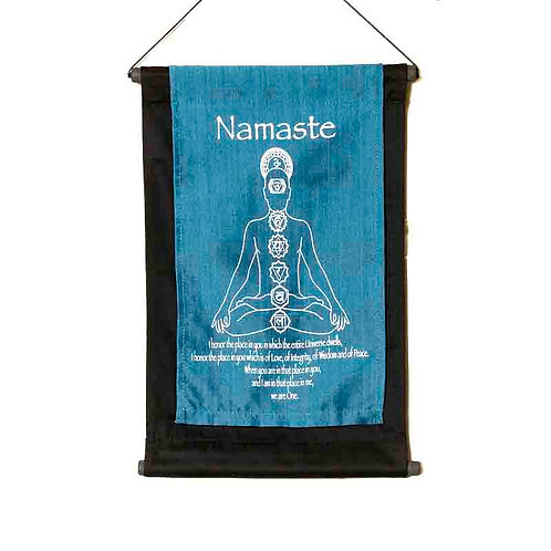Namaste Wall-Hanging: Blue