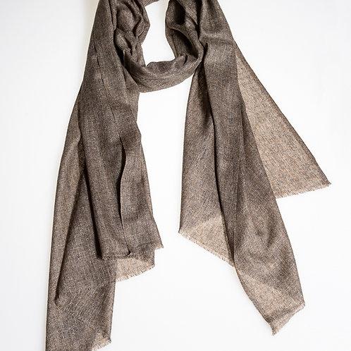 Pashmina scarf: Brown slate
