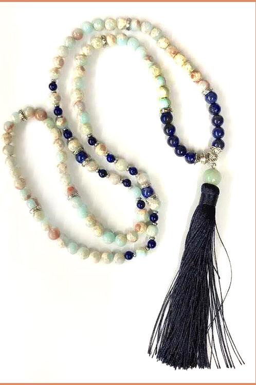 Amazonite & Lapis Lazuli: 108 MM Mala