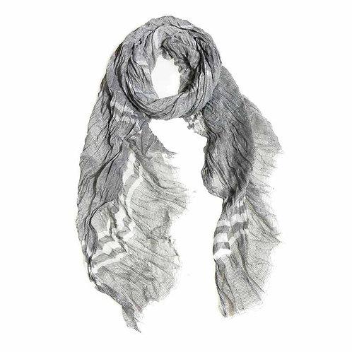 Cotton Woven Scarf - Dark grey